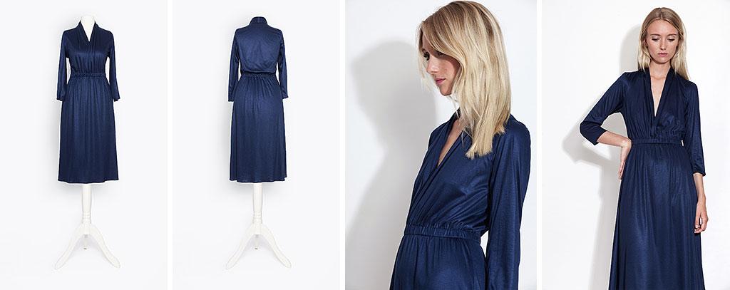 Anna Wasilewski blaues Kleid Fotografie
